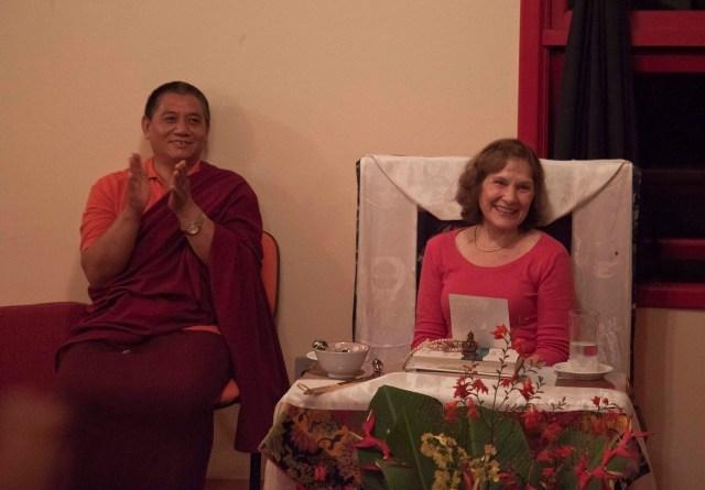 Chagdud Khadro and Lama Rigdzin Samdrub