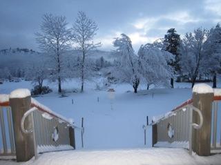 Vista da Sala de Meditação da Casa de Tara às 7:00 hs da manhã